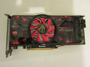 XFX Radeon HD 4890 graphics card - 1 GB Series, selling AS IS