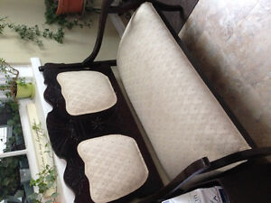 Antique Bench & Matching Chair