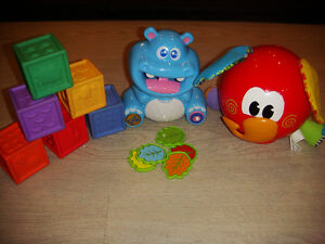 Shapes Sorter / Learn to Count Hippo / Six Soft Building blocks