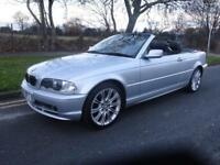 BMW 320 2.2 2002/02 Ci convertable 78,000 miles full service history leather
