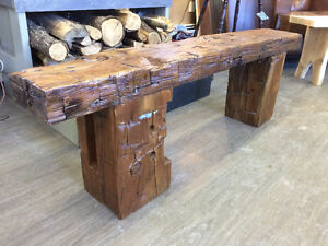 RECLAIMED BARN BEAM HALL BENCHES .....GORGEOUS!!!!