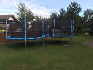 13' trampoline, with safety net