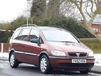 Vauxhall/Opel Zafira 1.6i 16v 2001MY Club,HAD NEW CLTCH
