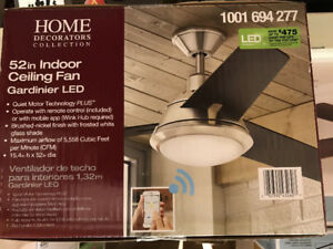 Gardinier 52 in. LED  WINK Enabled Smart Ceiling Fan BNIB
