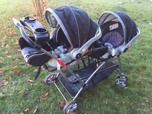 double baby trend universal snap n go car seat strollers