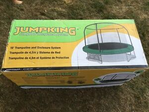 Used 15' trampoline with enclosure