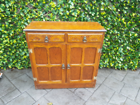 Priory Style Oak Wood Hall Small Sideboard