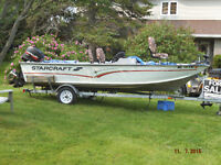 Trade Boat-Motor and Trailer for ATV.