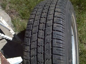TWO P205/75R14 TIRES on FORD 5-bolt rims