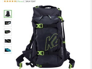K2 Backslide Back Courty Ski Snowboard Back Pack New