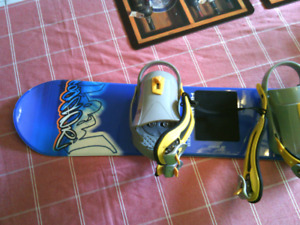 120cm Head snowboard with 5150 bindings.