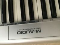 M audio midi keyboard full octave.