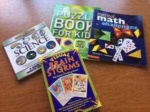 Mensa, brain teasers, science and math challenge kid books Kitchener / Waterloo Kitchener Area image 1