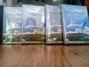 Virtual pilot 3D ,full scenery pack, 4 DVD