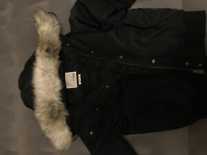 2017 Wilferd free black bomber winter coat. size small