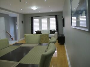 Fully Furnished 3 bedrooms house Short or long term rental/SQ 1