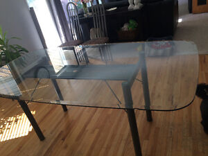 Glass and Metal Table