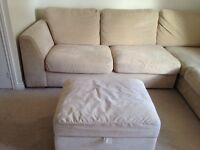 DFS Cream Fabric Sofa Set