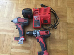 """PRICE REDUCED ..Milwaukee drill and impact driver. 1/2"""""""