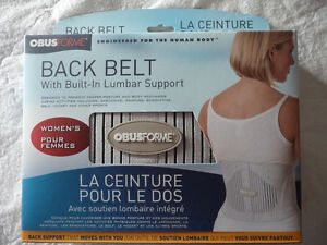 BACK BELT WITH BUILT IN LUMBAR SUPPORT