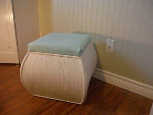 Bamboo Ottoman with Storage Excellent Condition Like New
