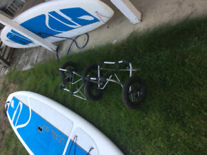 2 Level six Stand up paddle boards with 2 pull carts