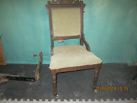ESTATE SALE OF OLD CHAIR WITH WHEELS