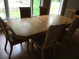 Dinning Room Table and Chairs, and Hutch
