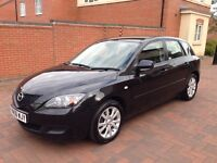 Mazda 3 1.6L , Black, 53000 Mailage, MOT till 14/10/2017