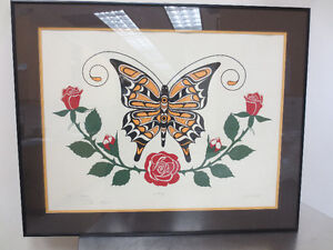 """Butterfly"" First Nations Kwankiqtl numbered print"