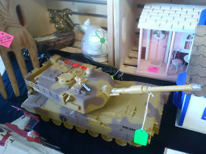Large Toy Tank with Electronic Sounds Prince George British Columbia image 1