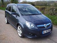 2008 58 Plate Vauxhall/Opel Zafira 1.9CDTi 16v ( 150ps ) ( Exterior pk ) SRi
