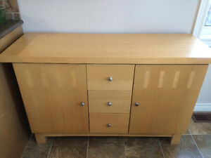 Almost New Solid Wood Server/Cabinet/Hutch