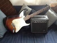 Ridgewood guitar and amp