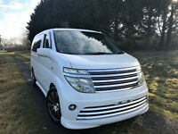 FRESH IMPORT NISSAN ELGRAND RIDER 3.5 V6 AUTO SUNROOF CURTAINS REVERSE CAMERA