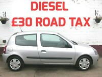 £30 A YEAR ROAD TAX 2007 DIESEL CLIO 1.5 DCI 1 OWNER FULL SERVICE HISTORY 12 MONTHS MOT