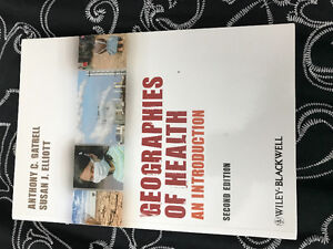 Used textbook: Goegraphies of health: an introduction