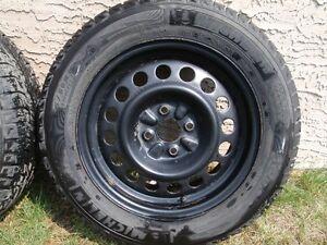 "4 used - 15"" Michelin winter tires and rims Regina Regina Area image 3"