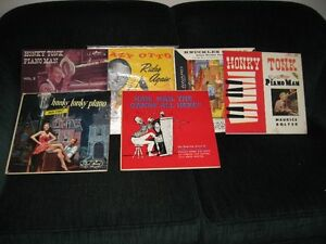 6 lp vinyl records honky-tonk piano. very old. collectors item