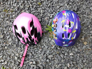 Tinkerbell bicycle helmet and pink specialized cycling helmet