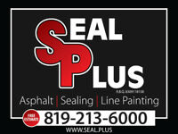 SEAL PLUS! SEALER, ASPHALT, INTERLOCK, LINE PAINTING