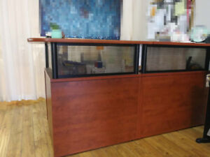 Reception desk and a cabinet