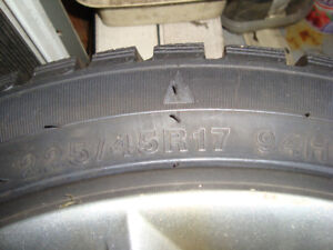 235/45/17 winter and summer tires and wheels for sale 5x110 bolt
