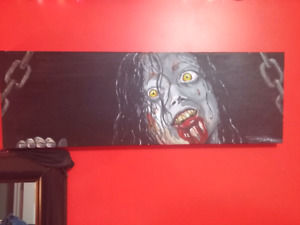 Evil Dead Oil Painting.. Christmas is Coming