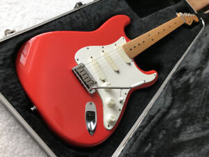 fender stratocaster usa 1987 strat plus fiesta red + case fender
