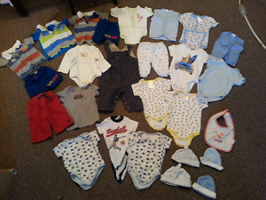 Used baby boy clothes 0-6 months