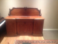 Antique Dining Room Side Board, Table and six (6) chairs