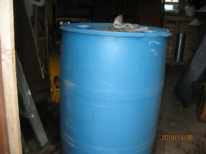45 gal plastic barrel