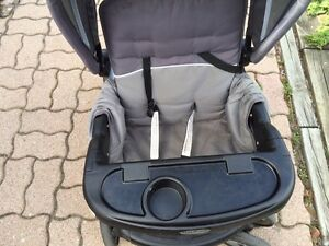 Baby Trend sit & stand double stroller + rain cover London Ontario image 4