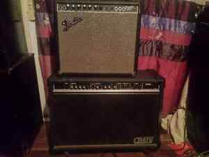 60 watt fender front man 65R and crate G130C 120 watt amps